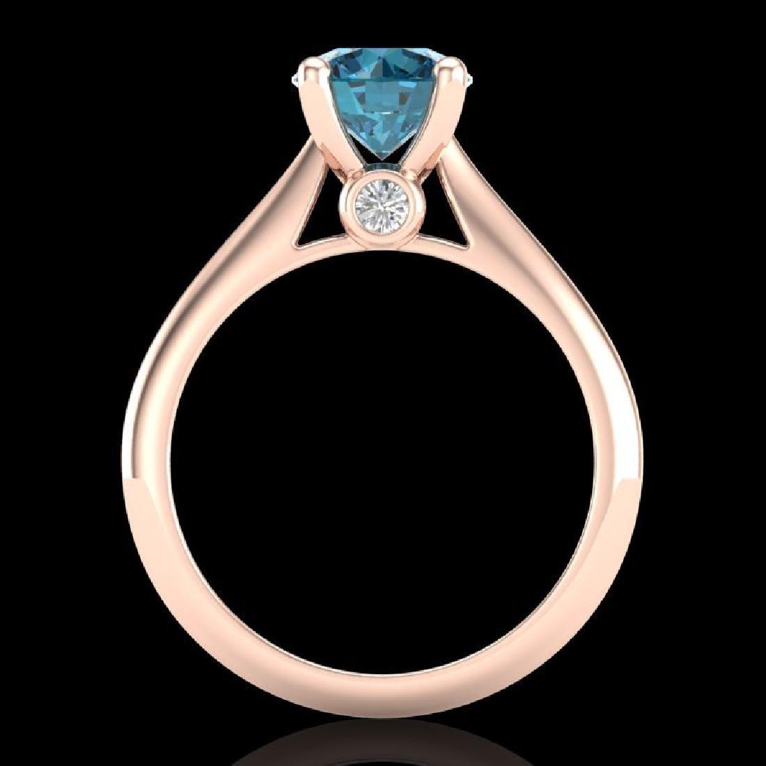 1.6 CTW Intense Blue Diamond Solitaire Engagement Art - 3