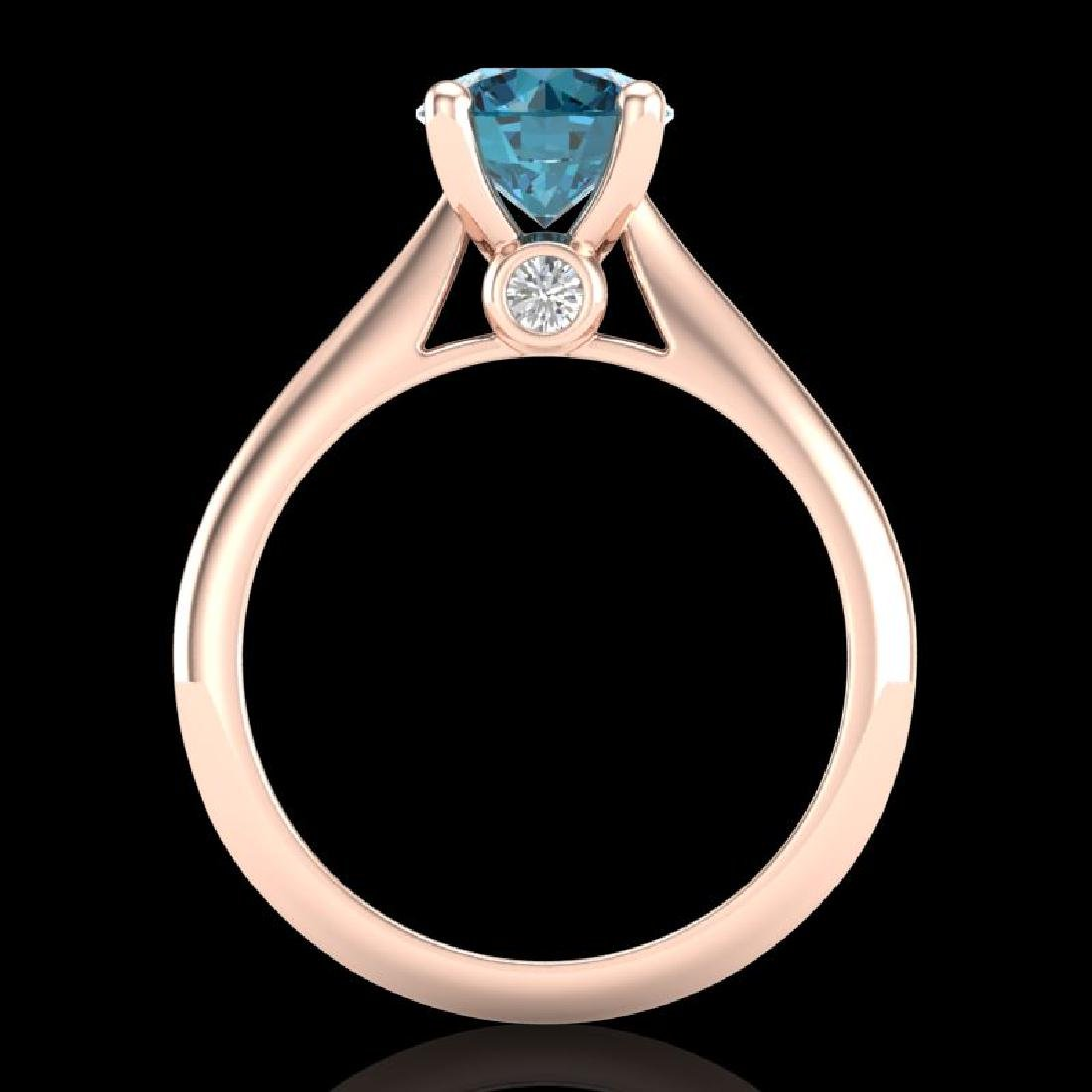 1.6 CTW Intense Blue Diamond Solitaire Engagement Art - 3