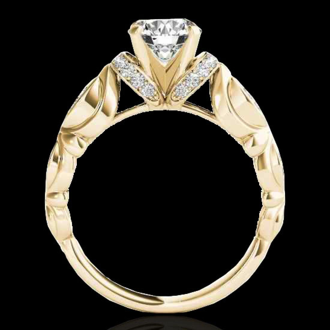 1.2 CTW H-SI/I Certified Diamond Solitaire Antique Ring