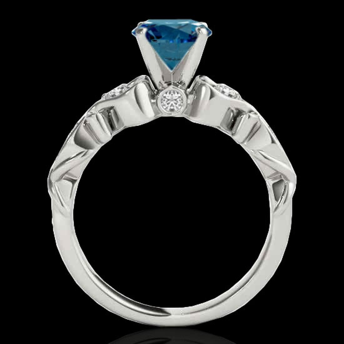 1.15 CTW SI Certified Fancy Blue Diamond Solitaire - 2