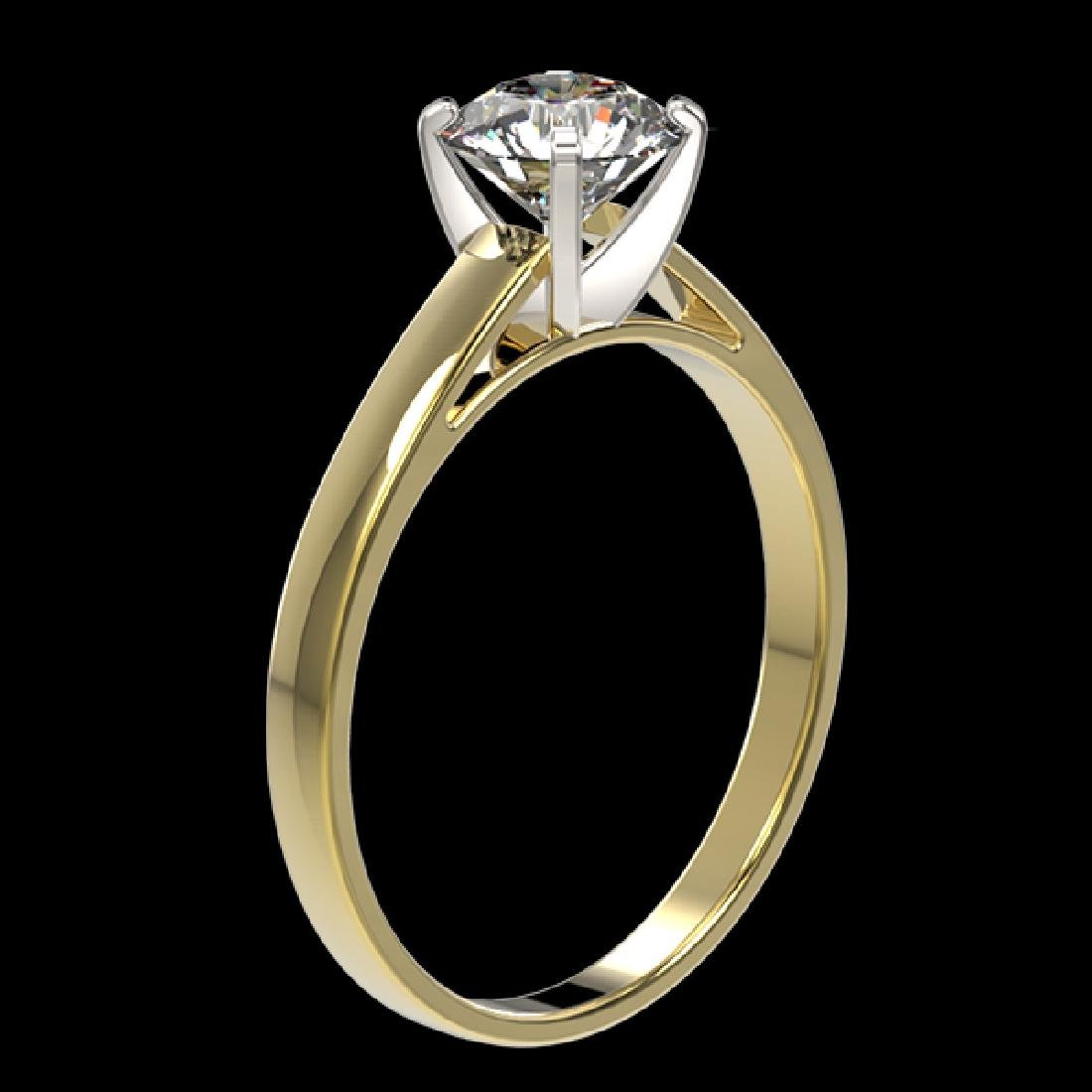 0.99 CTW Certified H-SI/I Quality Diamond Solitaire - 3