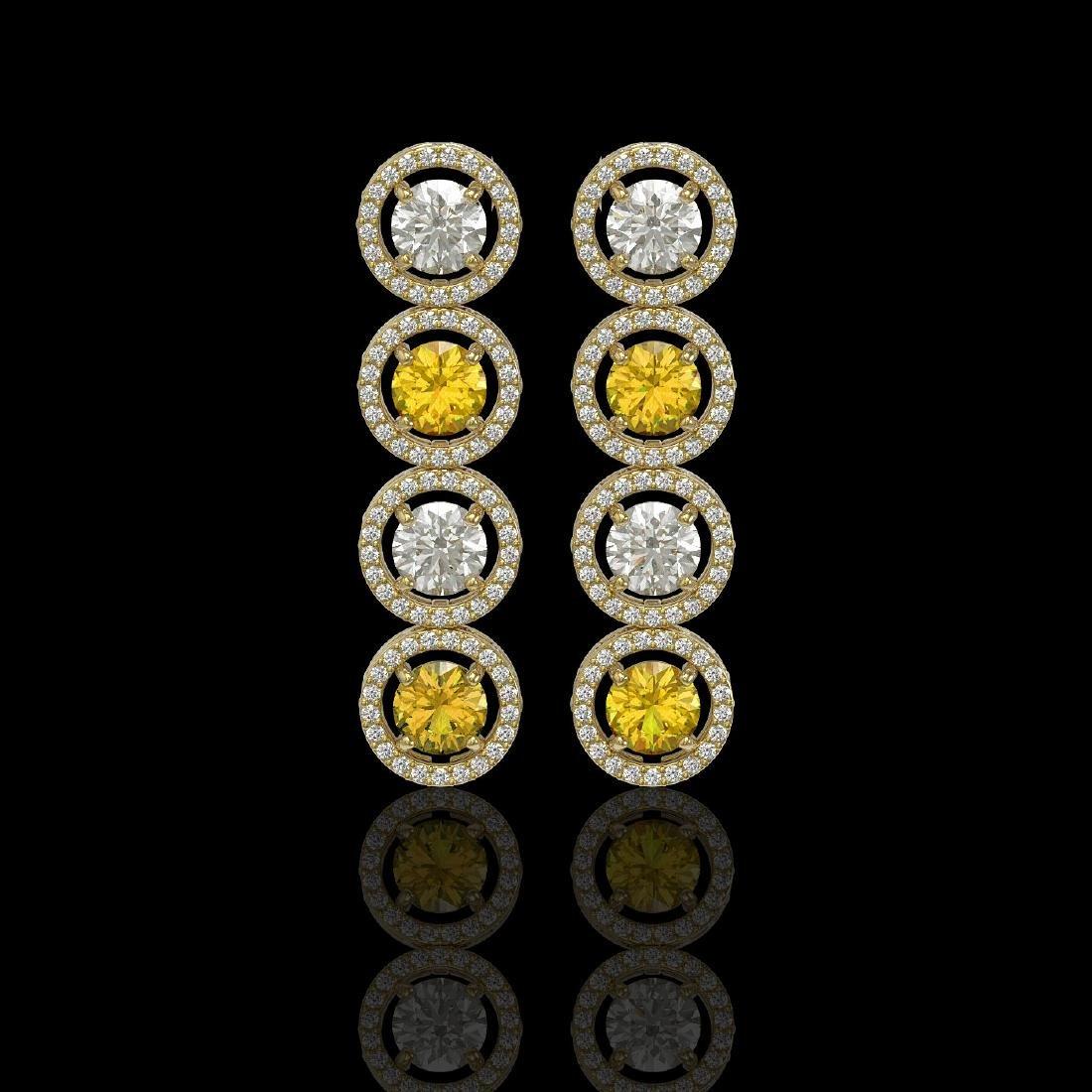 5.50 CTW Canary Yellow & White Diamond Designer