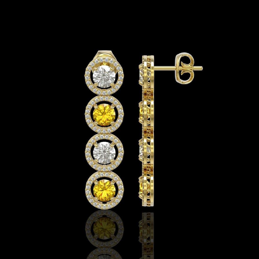 5.50 CTW Canary Yellow & White Diamond Designer - 2
