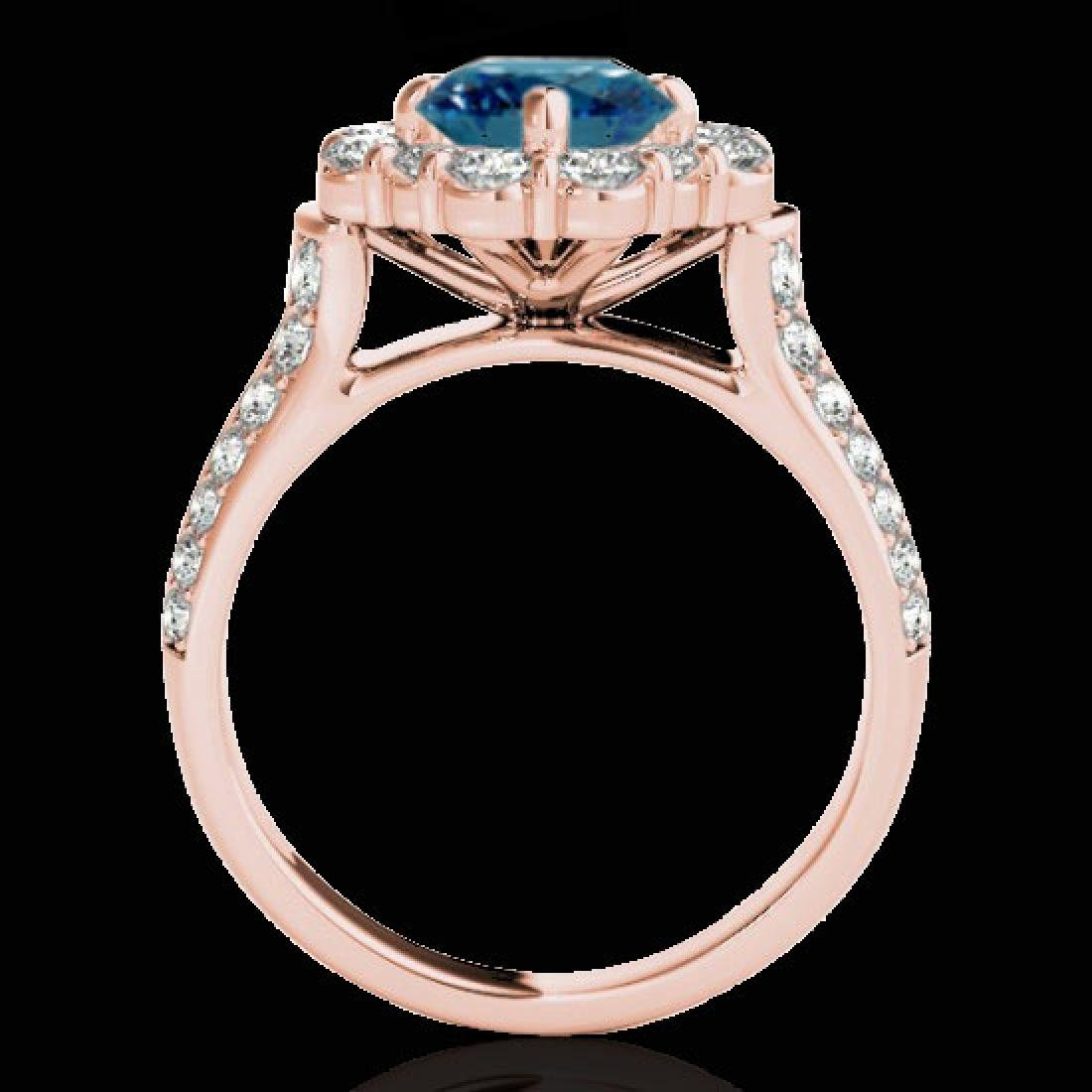 2.81 CTW SI Certified Fancy Blue Diamond Solitaire Halo - 2