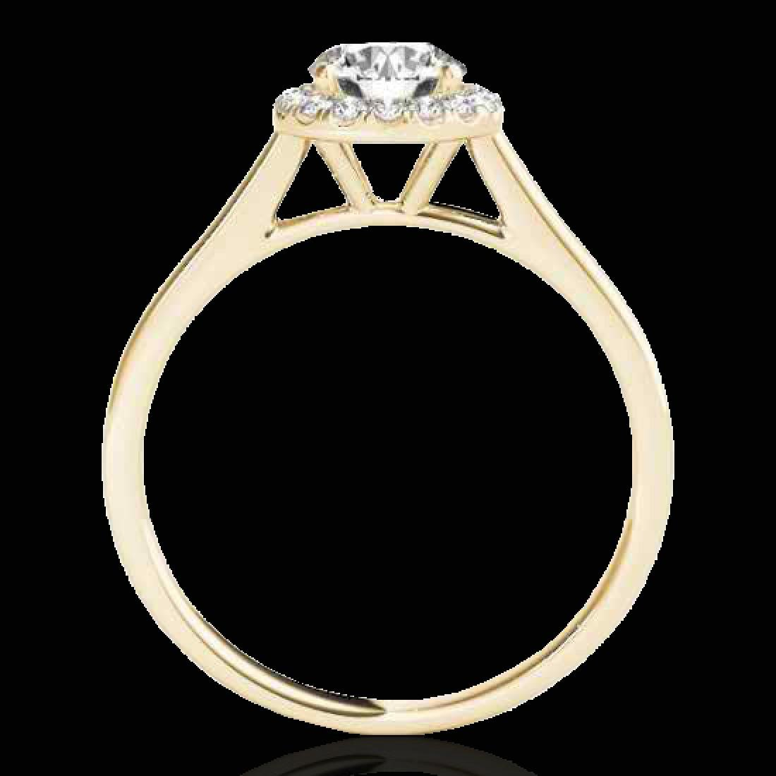 1.11 CTW H-SI/I Certified Diamond Solitaire Halo Ring - 2