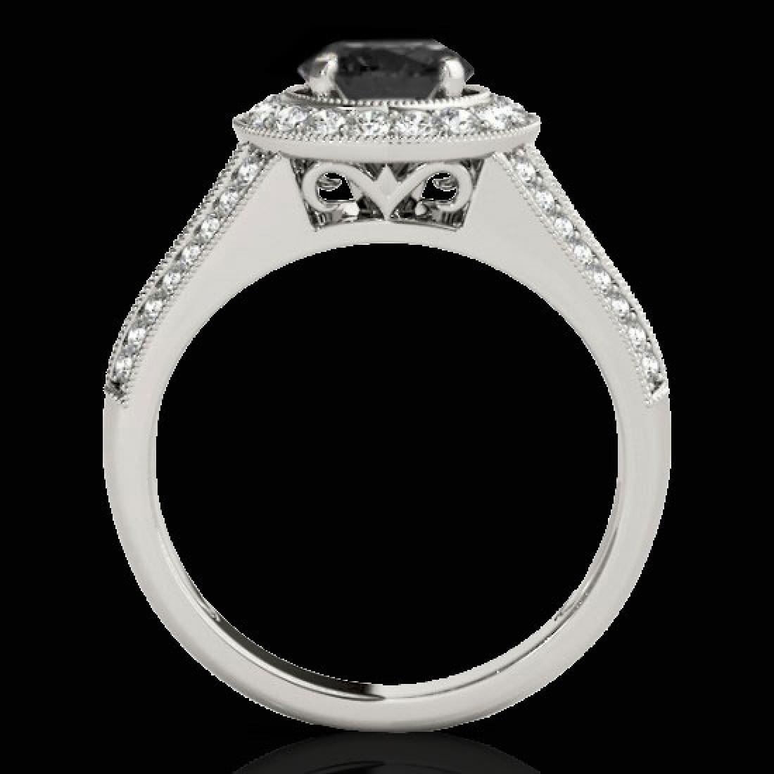2.17 CTW Certified VS Black Diamond Solitaire Halo Ring - 2