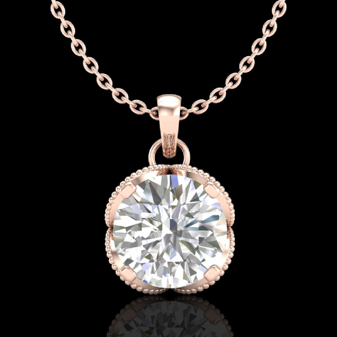 1.13 CTW VS/SI Diamond Solitaire Art Deco Stud Necklace