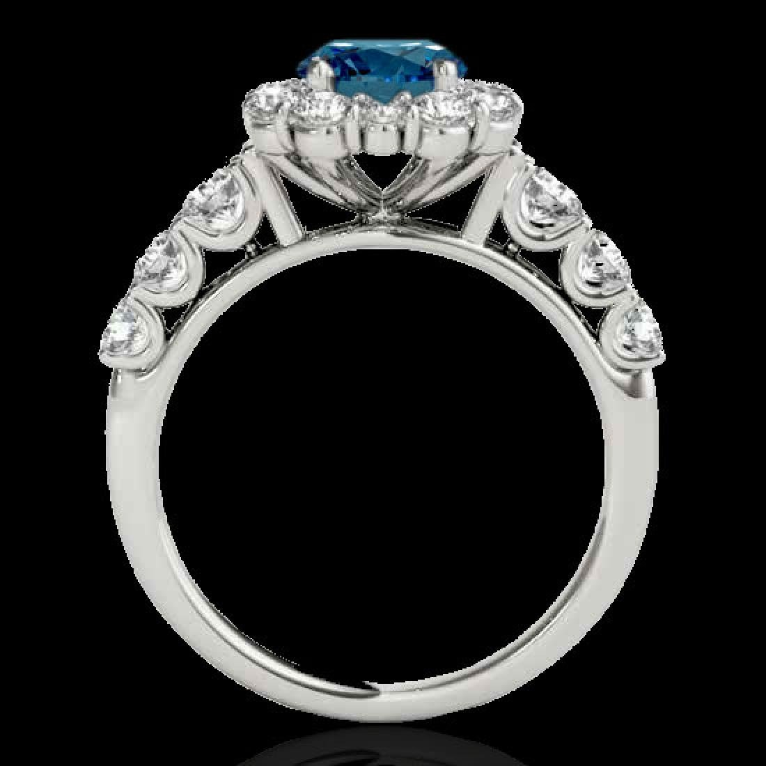2.9 CTW SI Certified Fancy Blue Diamond Solitaire Halo - 2