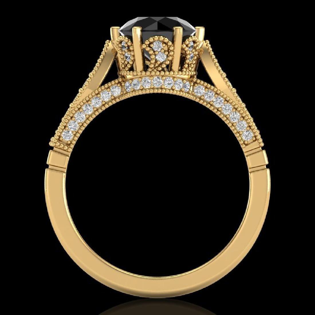 2.2 CTW Fancy Black Diamond Solitaire Engagement Art - 2