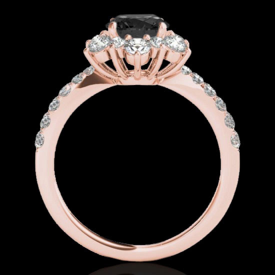 2.19 CTW Certified VS Black Diamond Solitaire Halo Ring - 2
