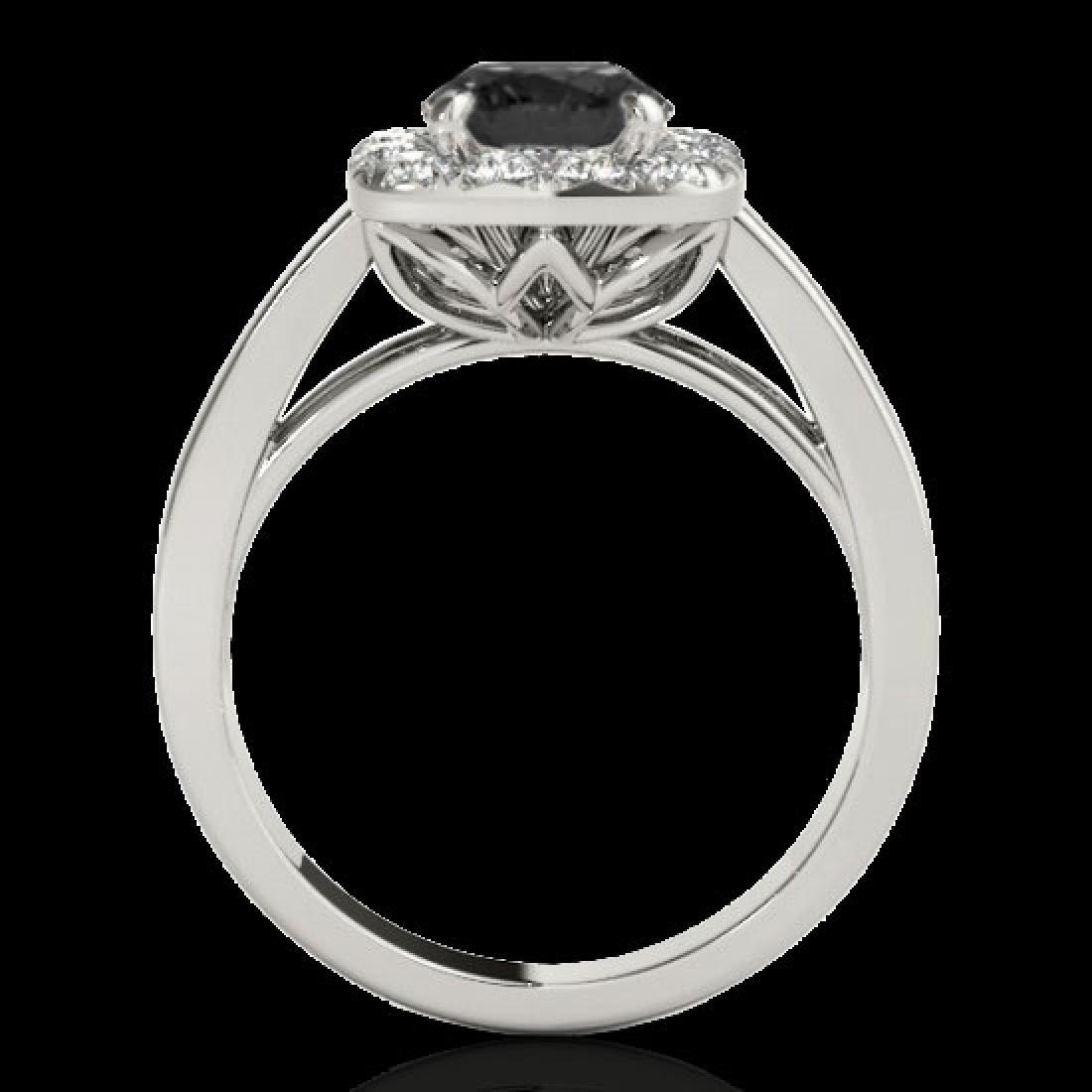 1.55 CTW Certified VS Black Diamond Solitaire Halo Ring - 2