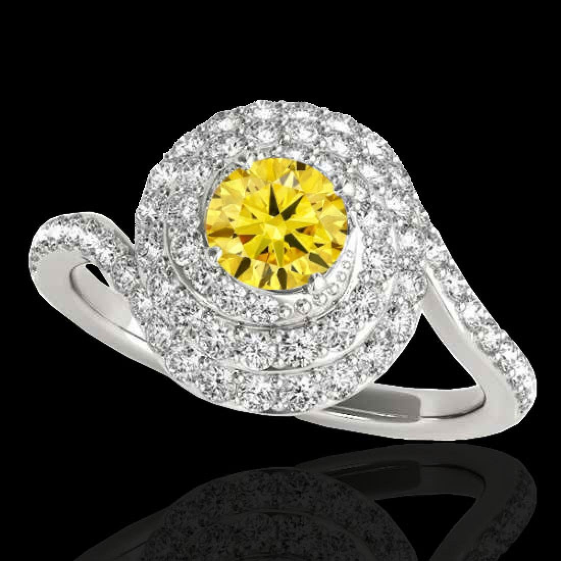 1.86 CTW Certified SI/I Fancy Intense Yellow Diamond