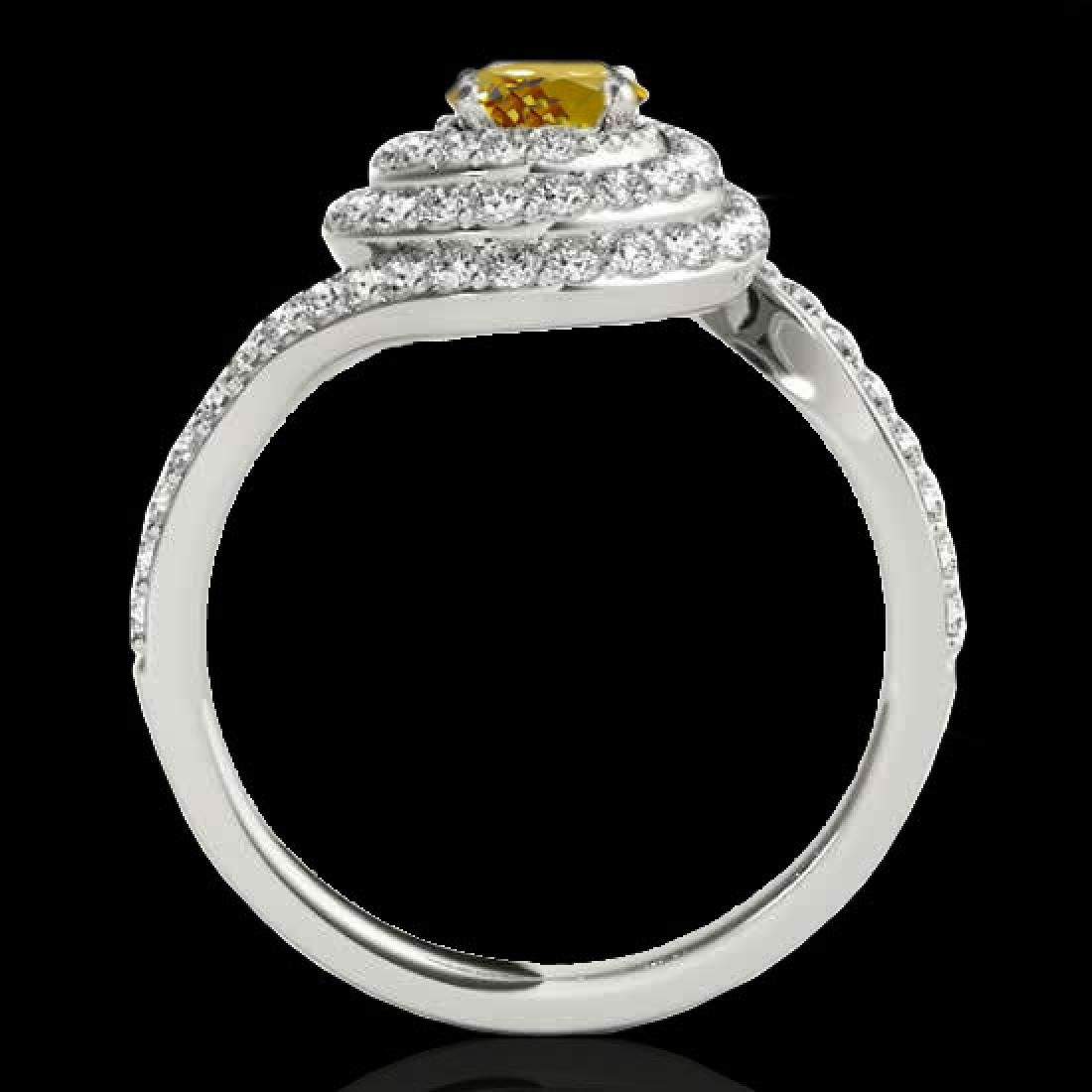 1.86 CTW Certified SI/I Fancy Intense Yellow Diamond - 2