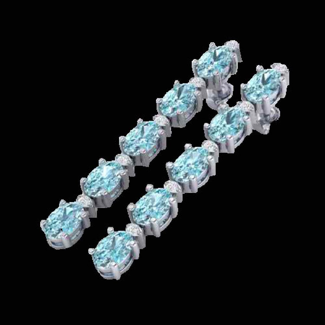 10.36 CTW Sky Blue Topaz & VS/SI Certified Diamond