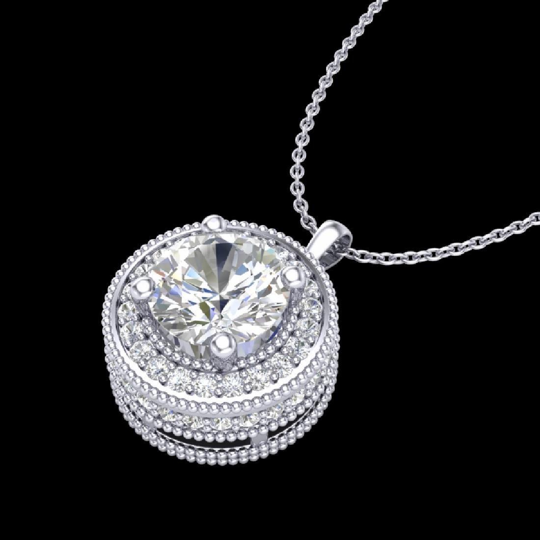 1.25 CTW VS/SI Diamond Solitaire Art Deco Stud Necklace - 2