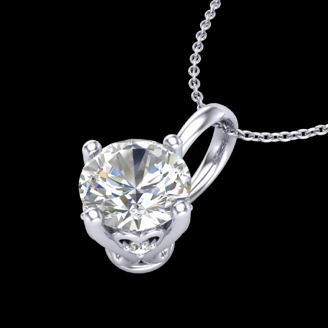 0.82 CTW VS/SI Diamond Solitaire Art Deco Stud Necklace - 2