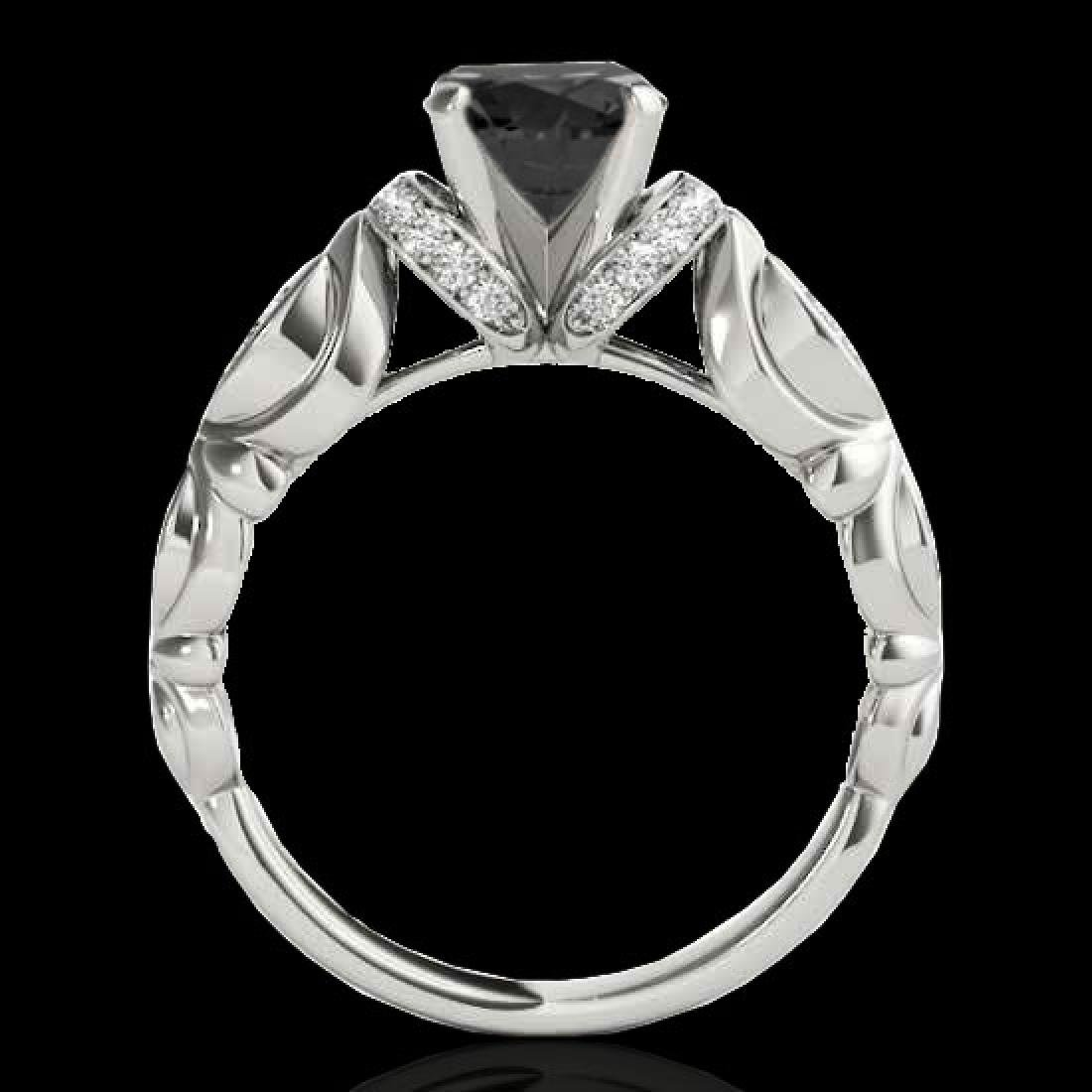 1.2 CTW Certified VS Black Diamond Solitaire Antique - 2