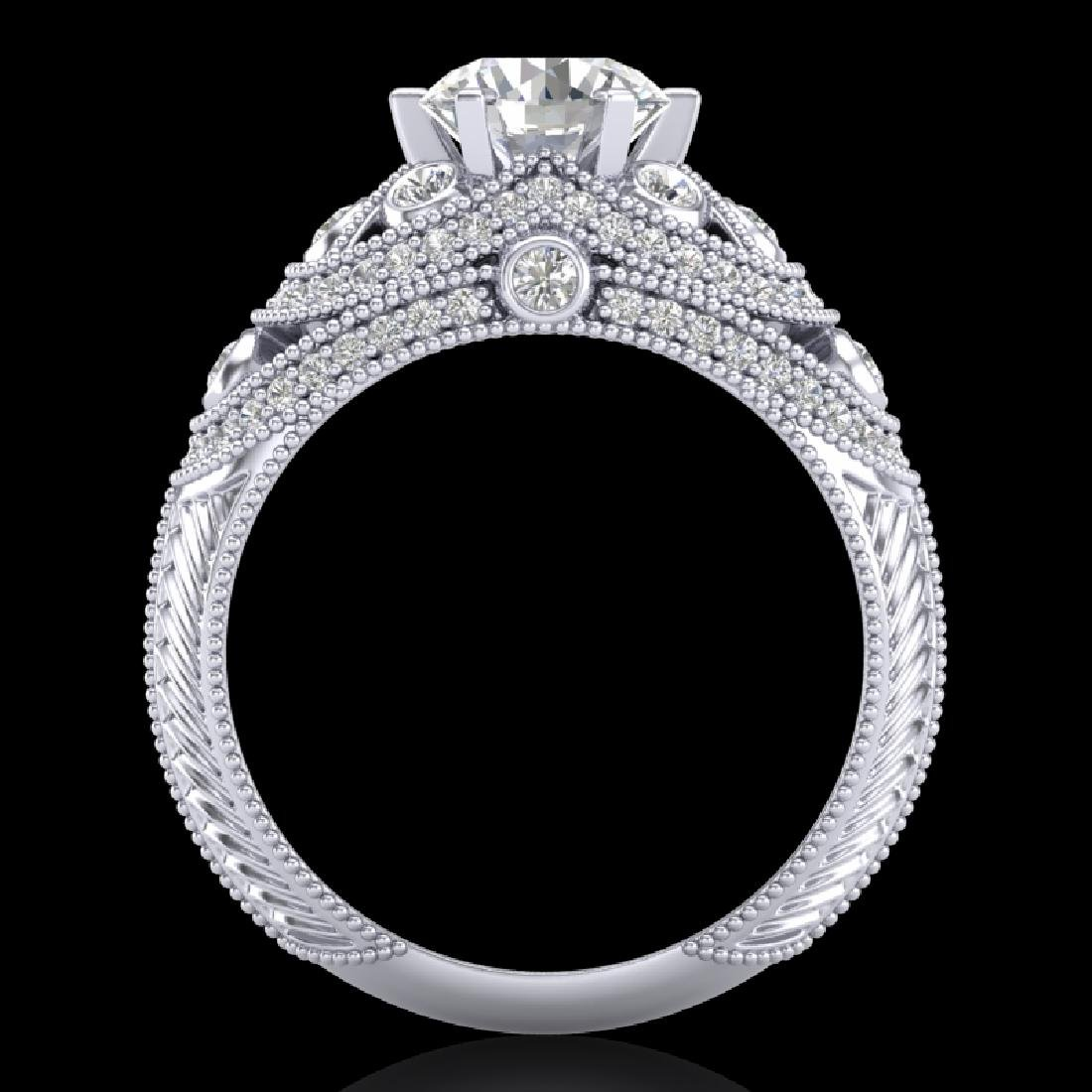 2 CTW VS/SI Diamond Solitaire Art Deco Ring 18K White