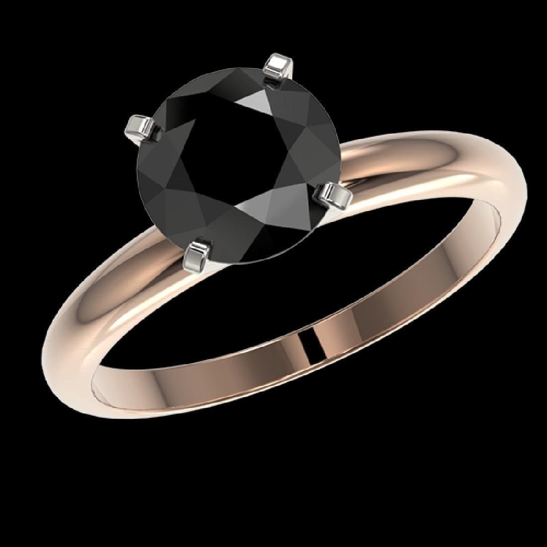2.09 CTW Fancy Black VS Diamond Solitaire Engagement - 2