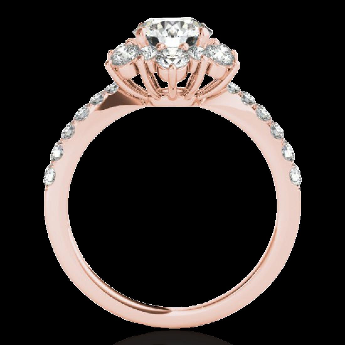 2 CTW H-SI/I Certified Diamond Solitaire Halo Ring 10K - 2