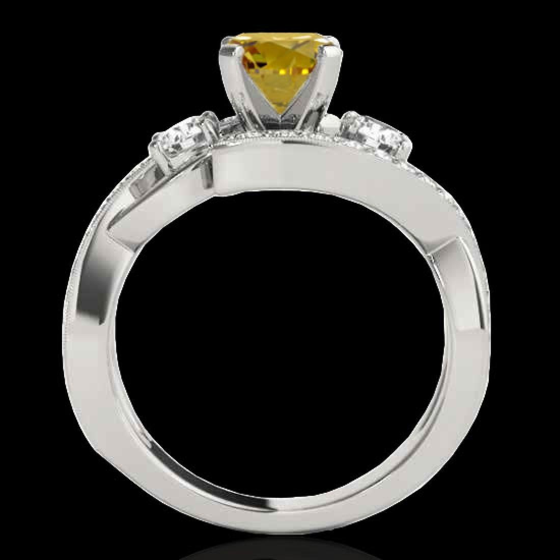 1.76 CTW Certified Si Intense Yellow Diamond Bypass - 2