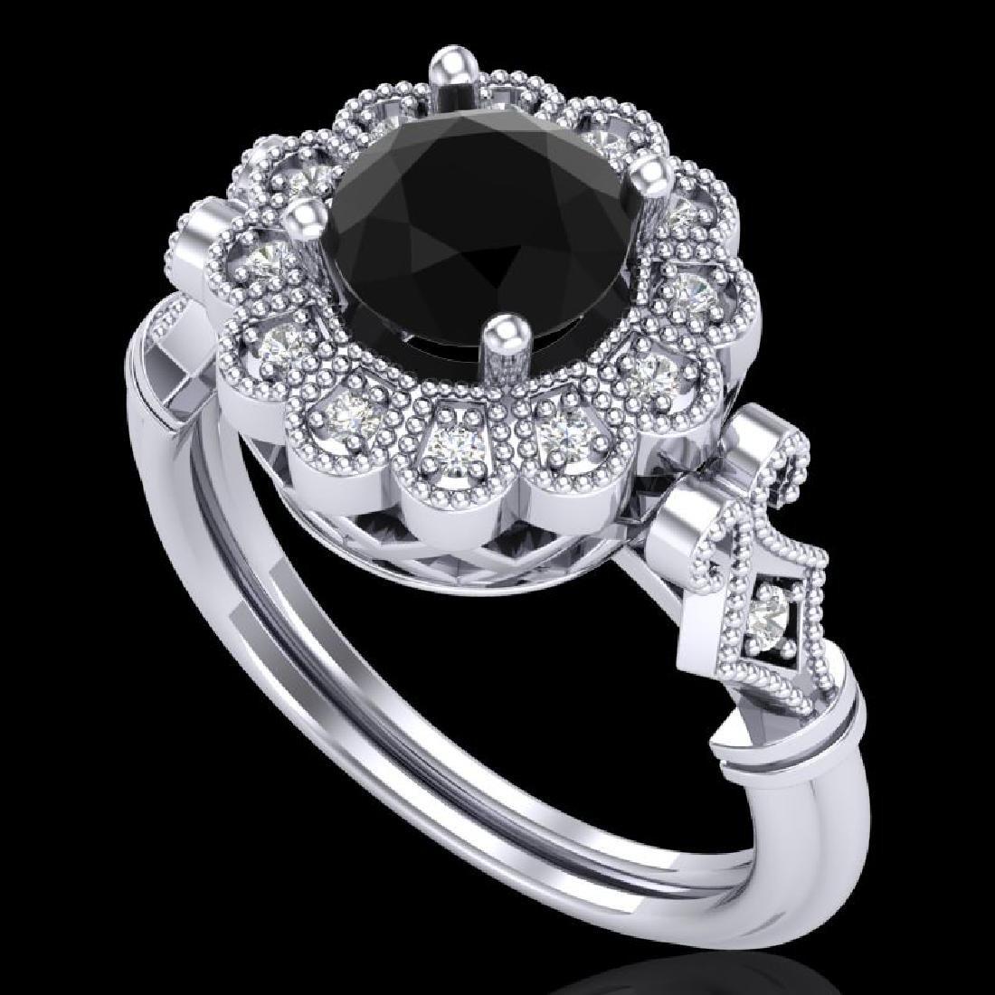 1.2 CTW Fancy Black Diamond Solitaire Engagement Art