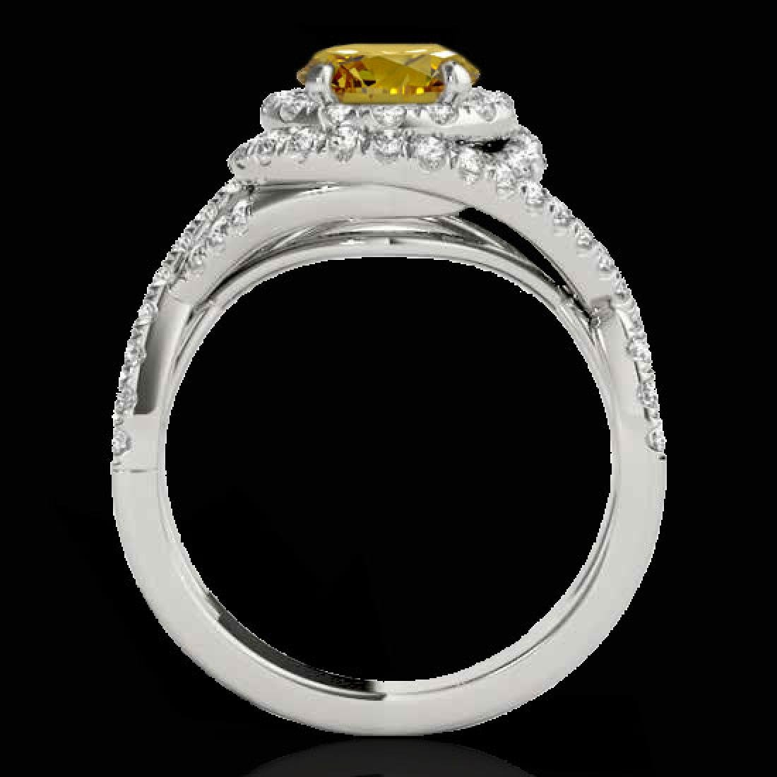 1.75 CTW Certified SI/I Fancy Intense Yellow Diamond - 2