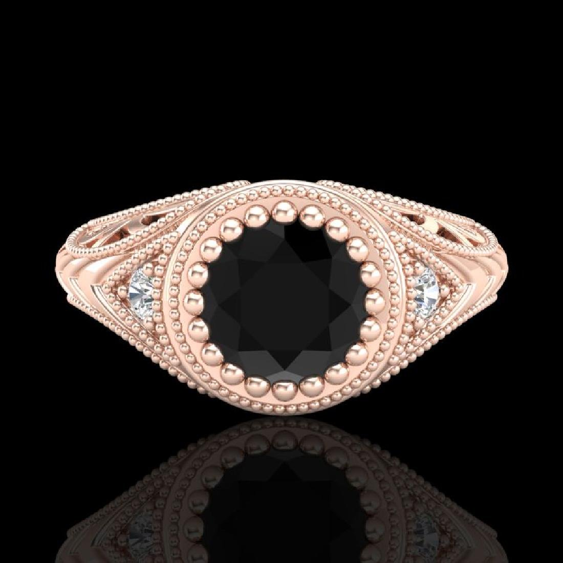 1.07 CTW Fancy Black Diamond Solitaire Engagement Art - 2