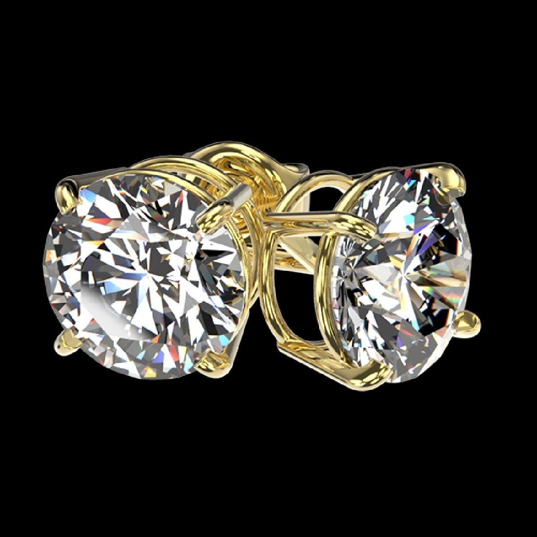 2.57 CTW Certified H-SI/I Quality Diamond Solitaire - 3
