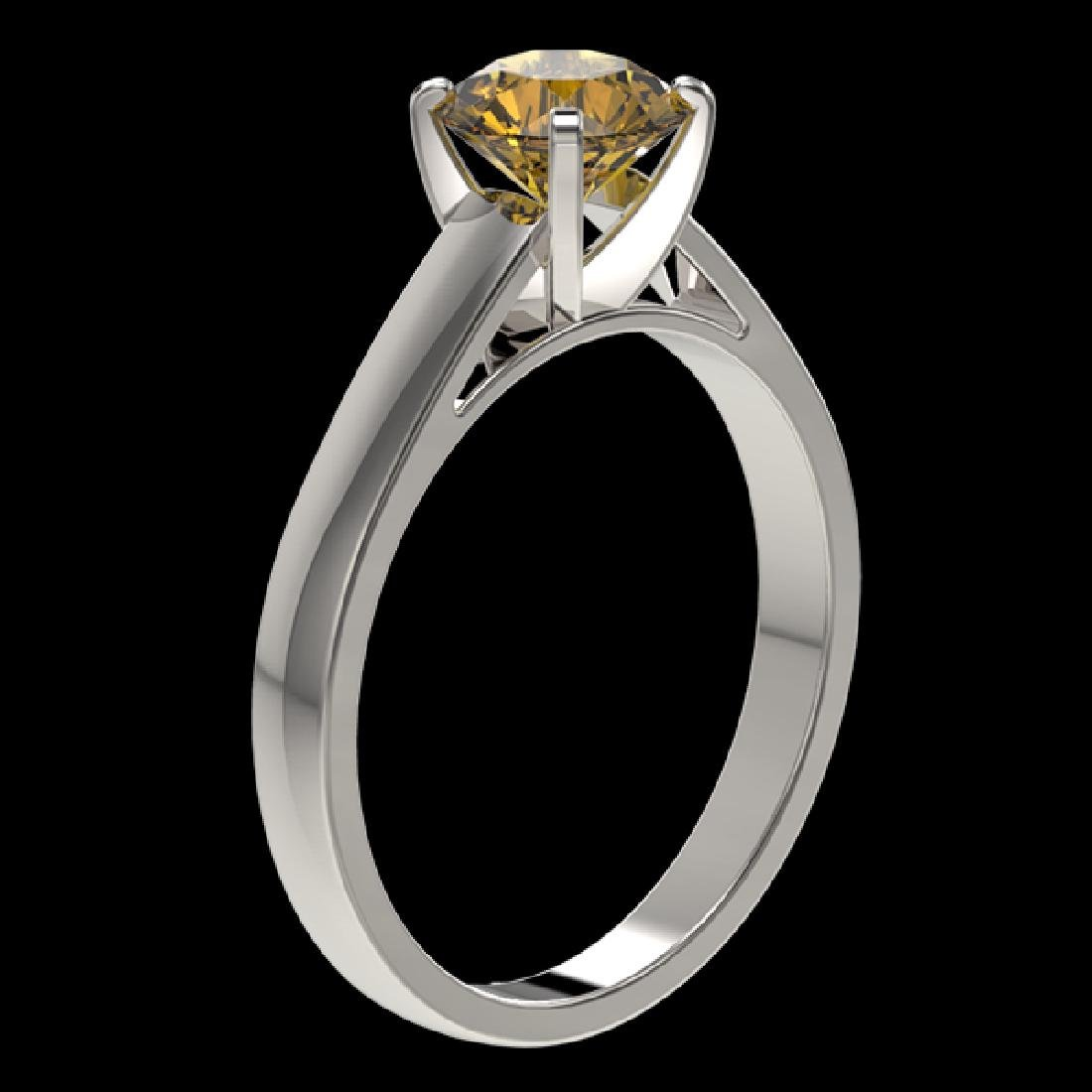 1.29 CTW Certified Intense Yellow SI Diamond Solitaire - 3