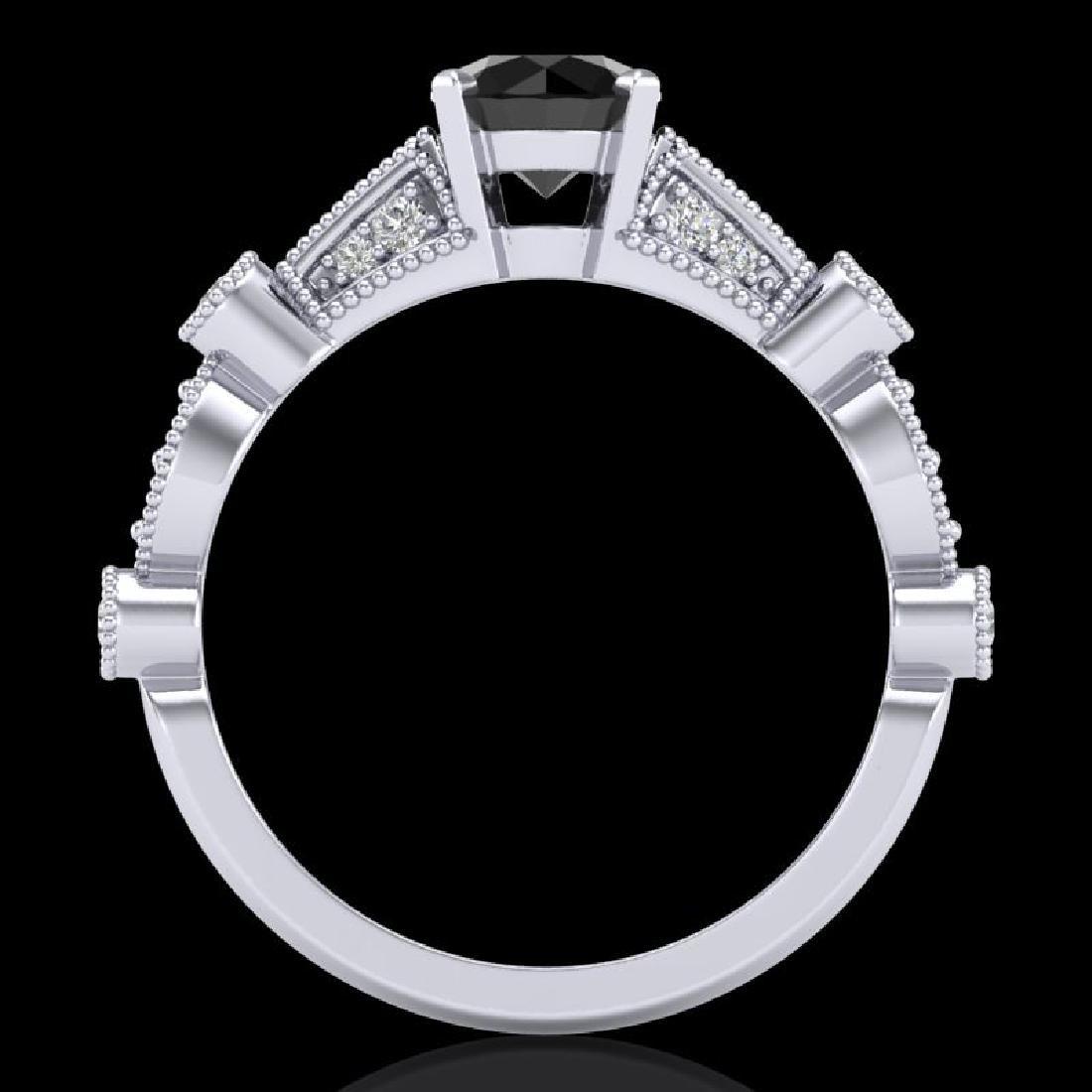 1.03 CTW Fancy Black Diamond Solitaire Engagement Art - 3