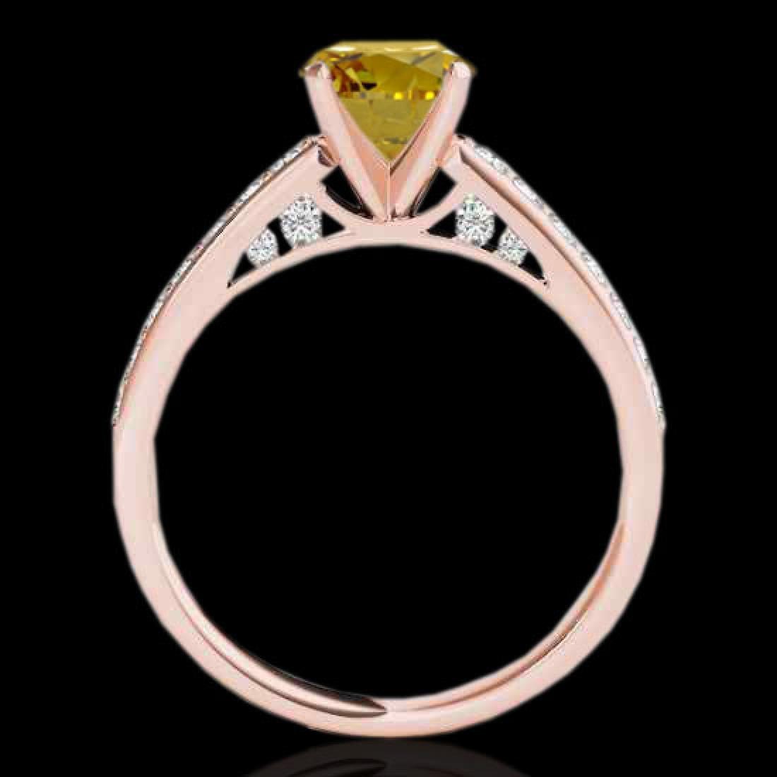 1.5 CTW Certified SI/I Fancy Intense Yellow Diamond - 2