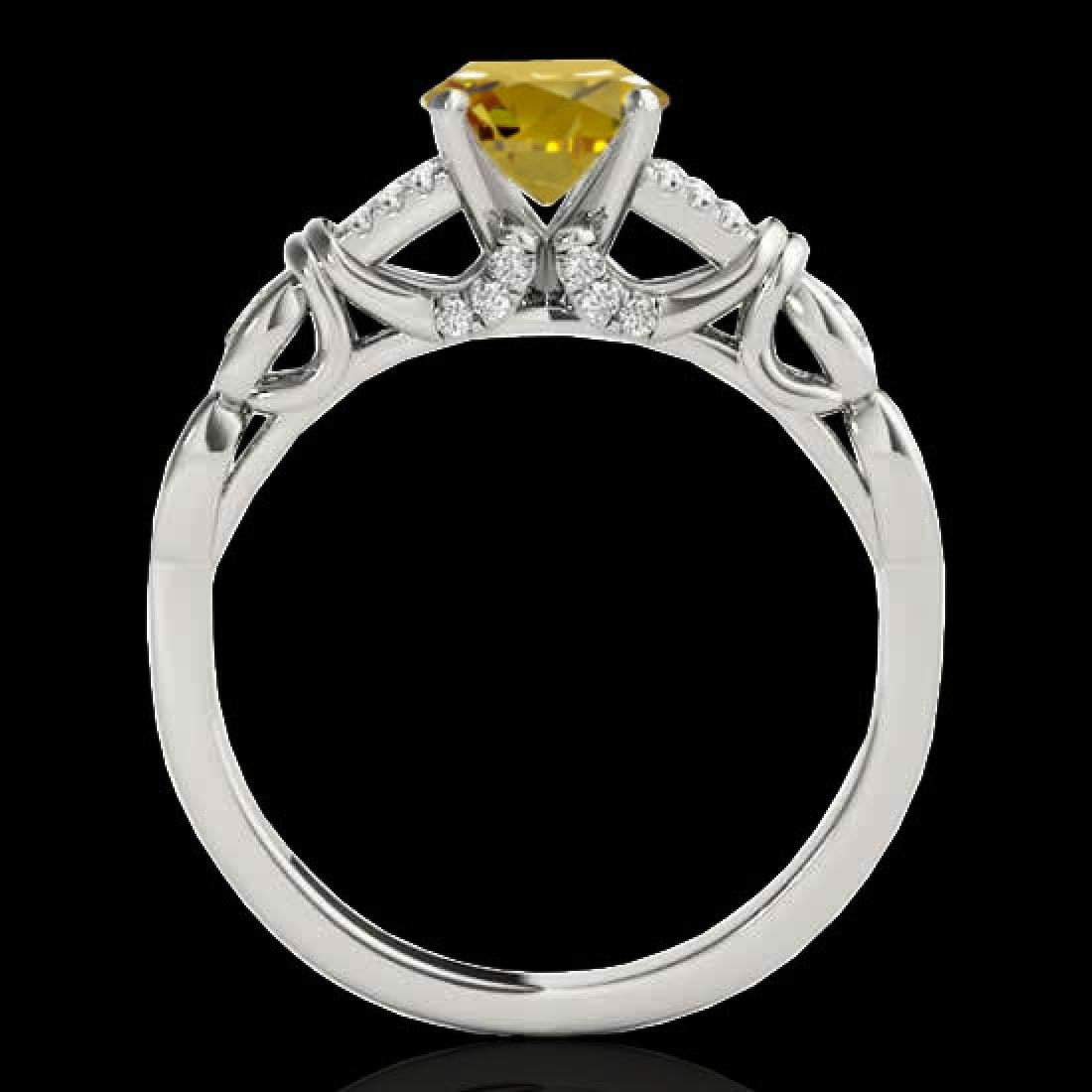 1.2 CTW Certified SI/I Fancy Intense Yellow Diamond - 2