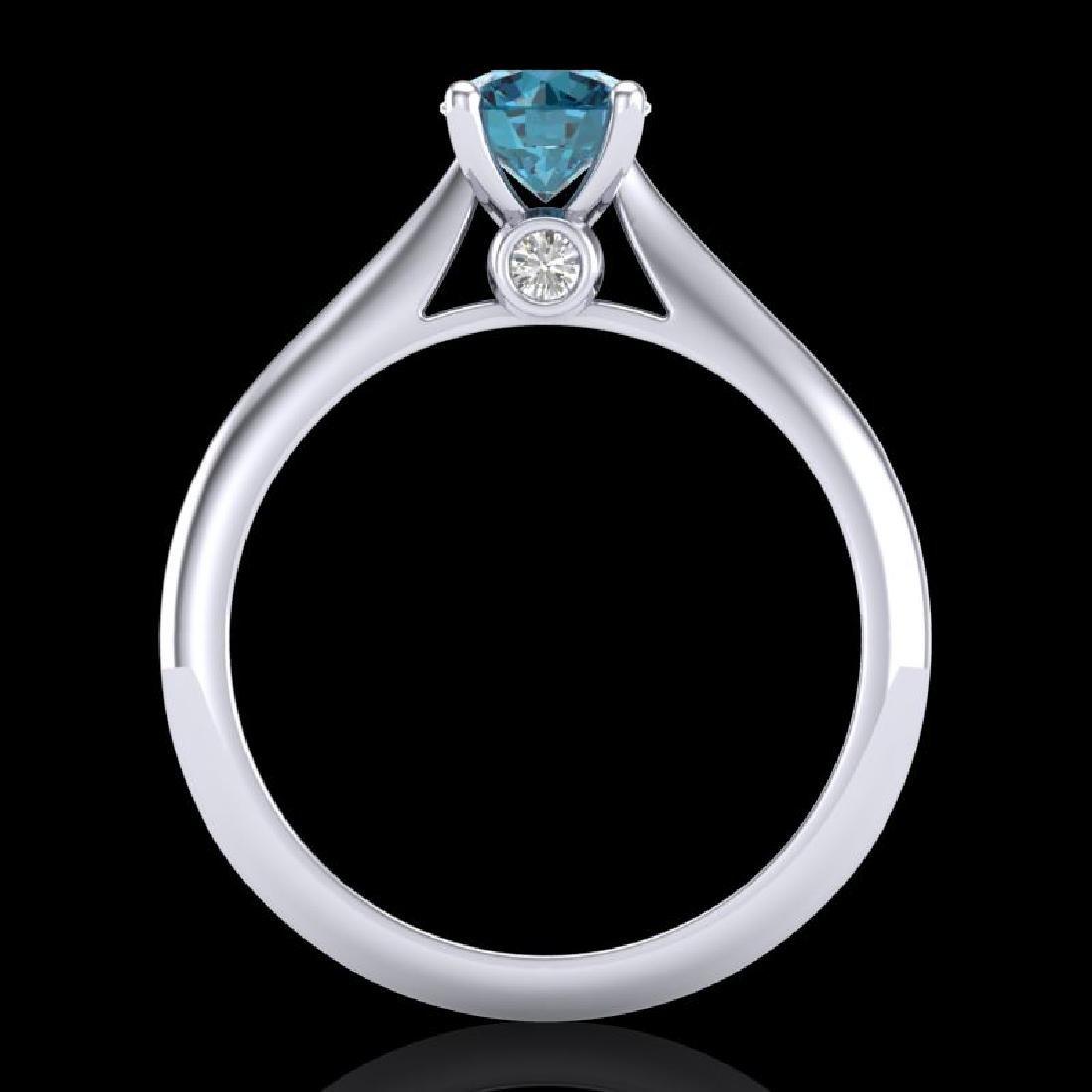0.83 CTW Fancy Intense Blue Diamond Solitaire Art Deco - 2