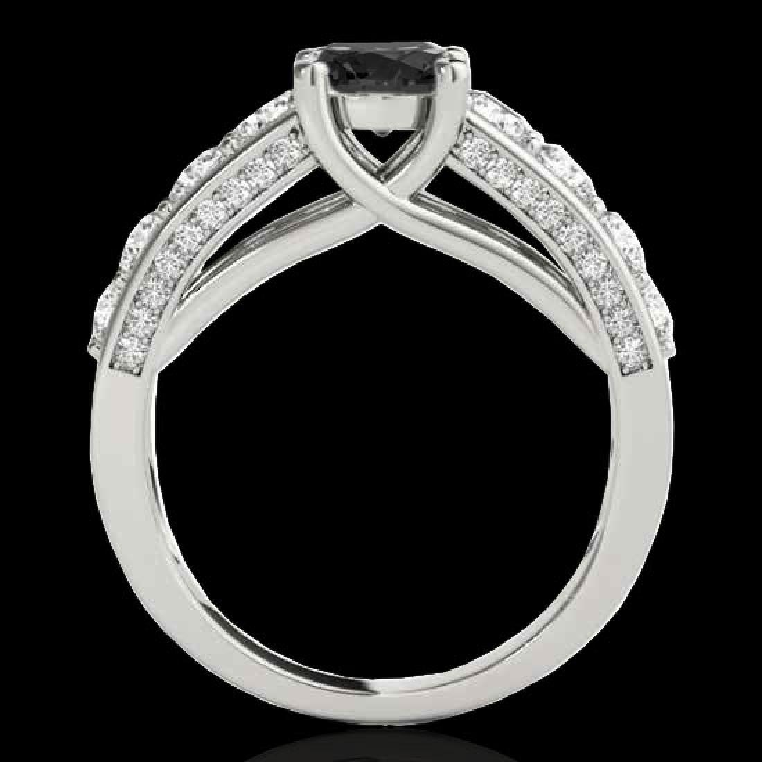 2.55 CTW Certified VS Black Diamond Solitaire Ring 10K - 2