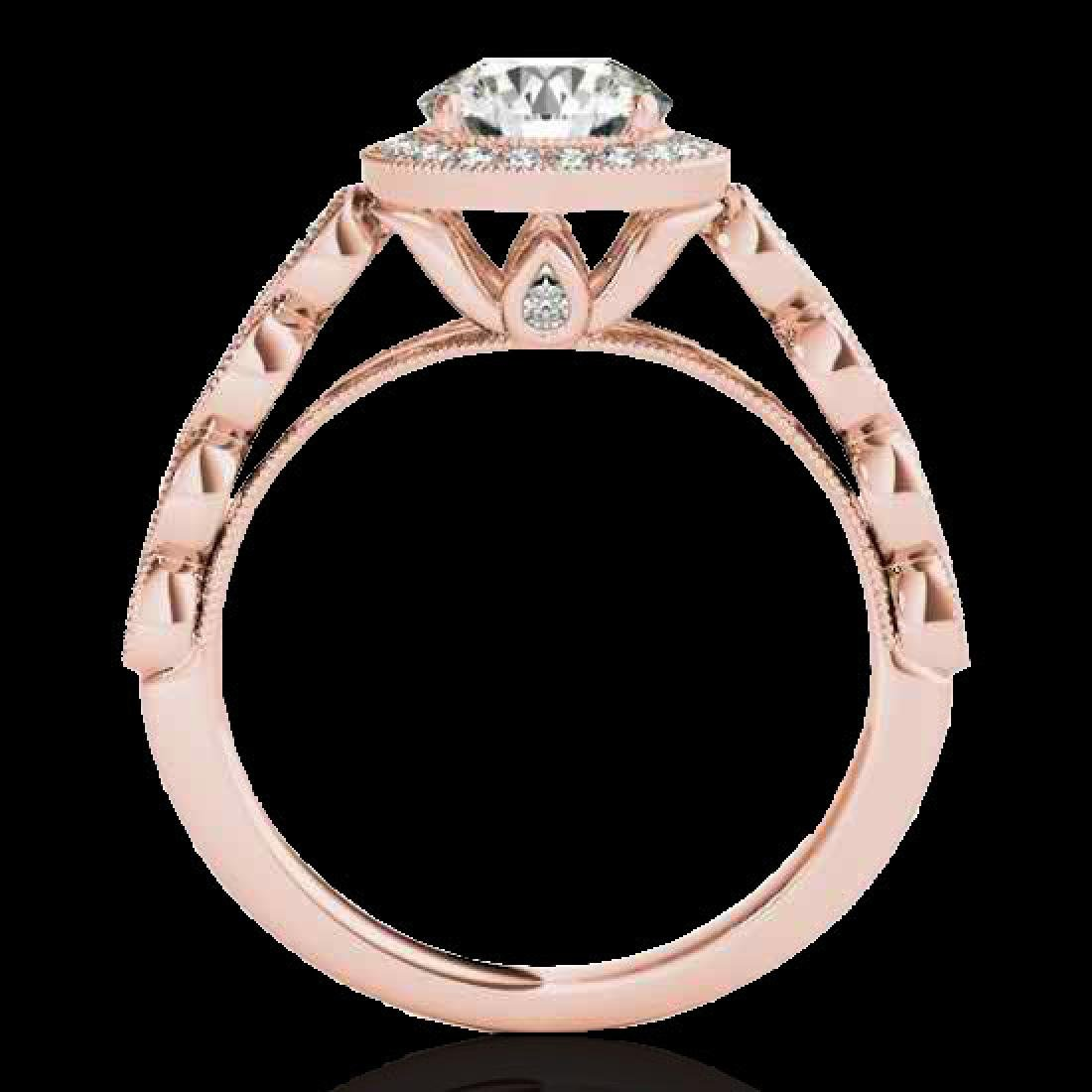 1.93 CTW H-SI/I Certified Diamond Solitaire Halo Ring - 2