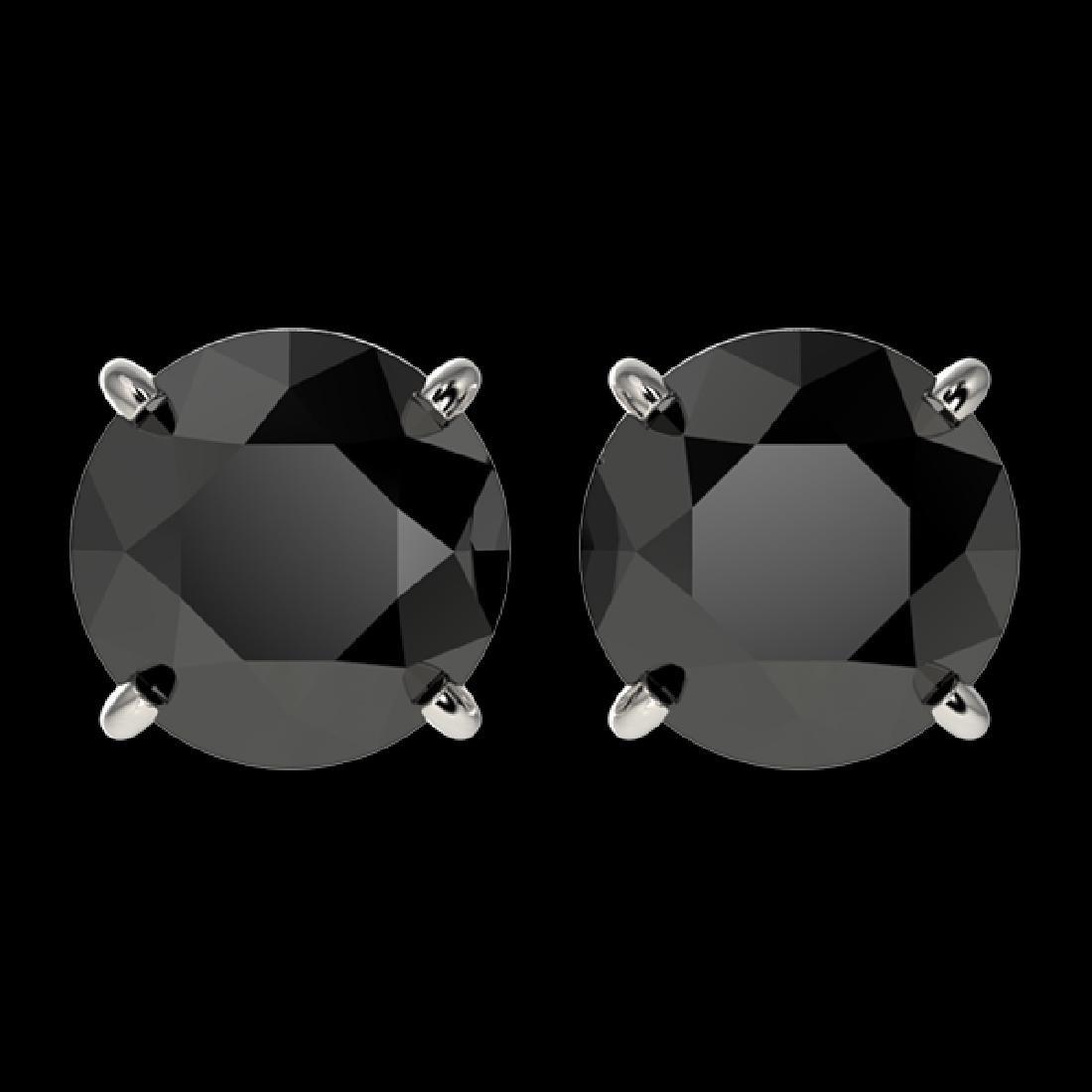 2.50 CTW Fancy Black VS Diamond Solitaire Stud Earrings