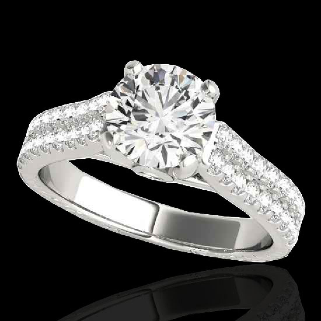 1.61 CTW H-SI/I Certified Diamond Pave Ring 10K White