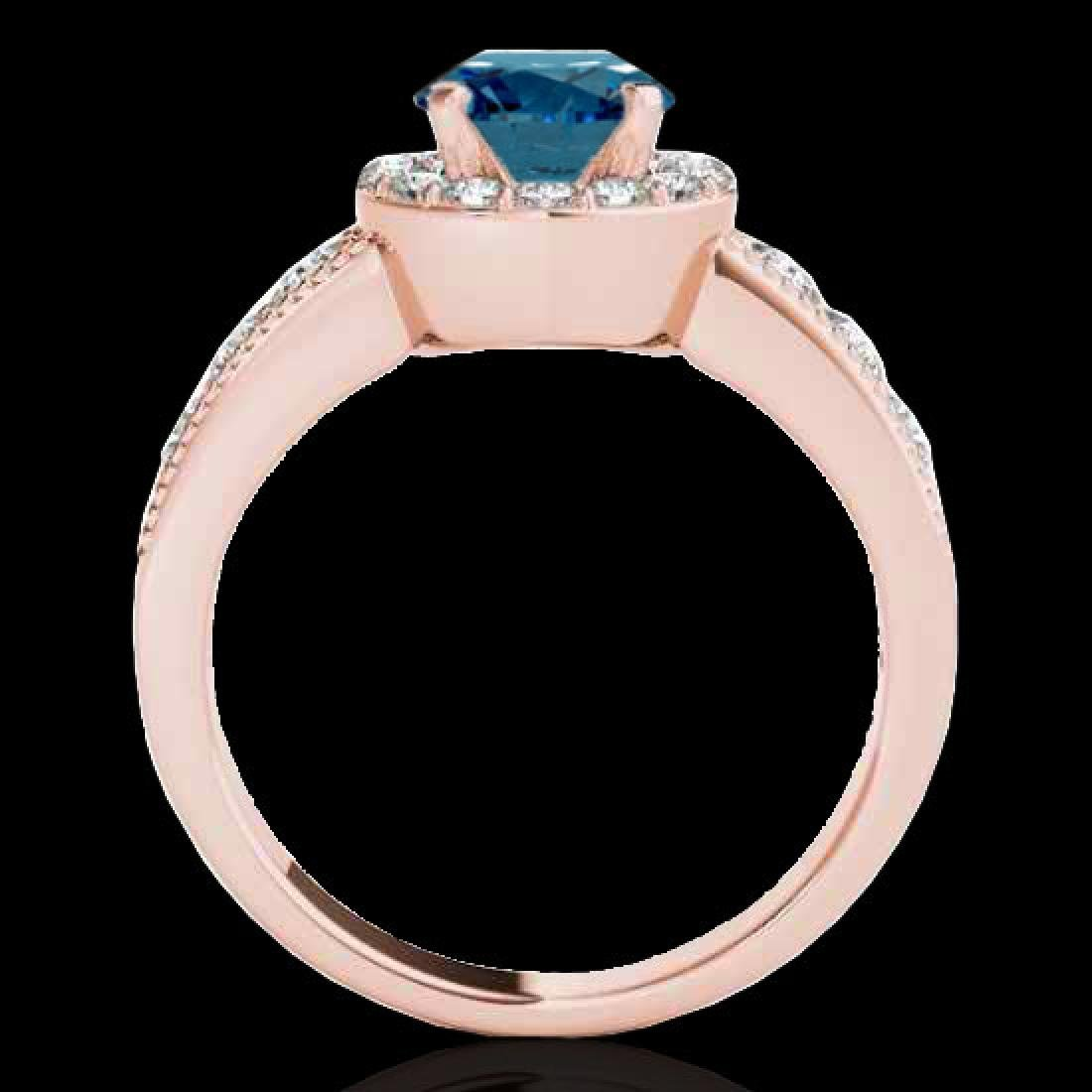 2.1 CTW SI Certified Fancy Blue Diamond Solitaire Halo - 2