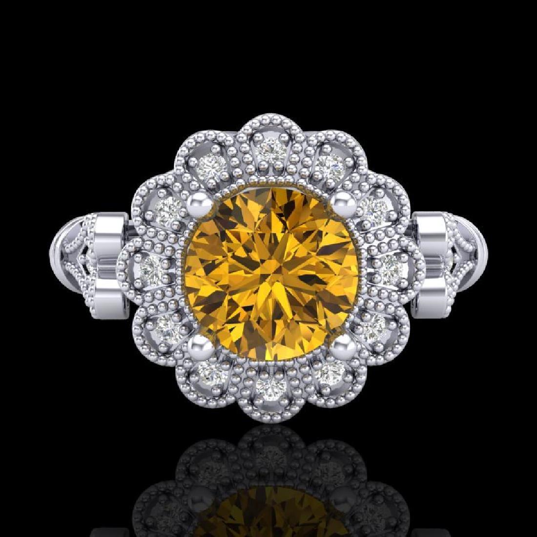 1.2 CTW Intense Fancy Yellow Diamond Engagement Art - 2