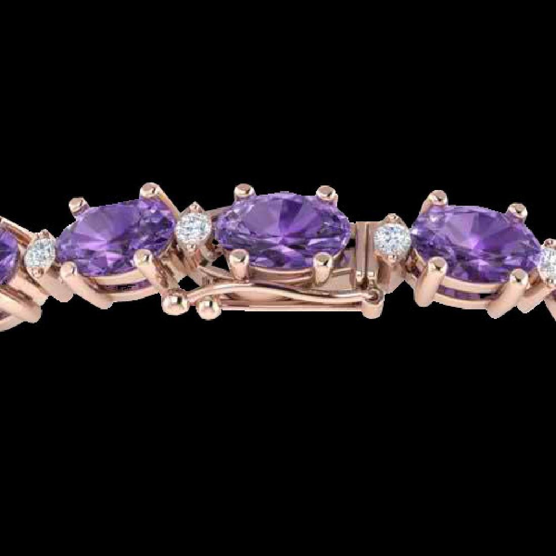 25.8 CTW Amethyst & VS/SI Certified Diamond Eternity