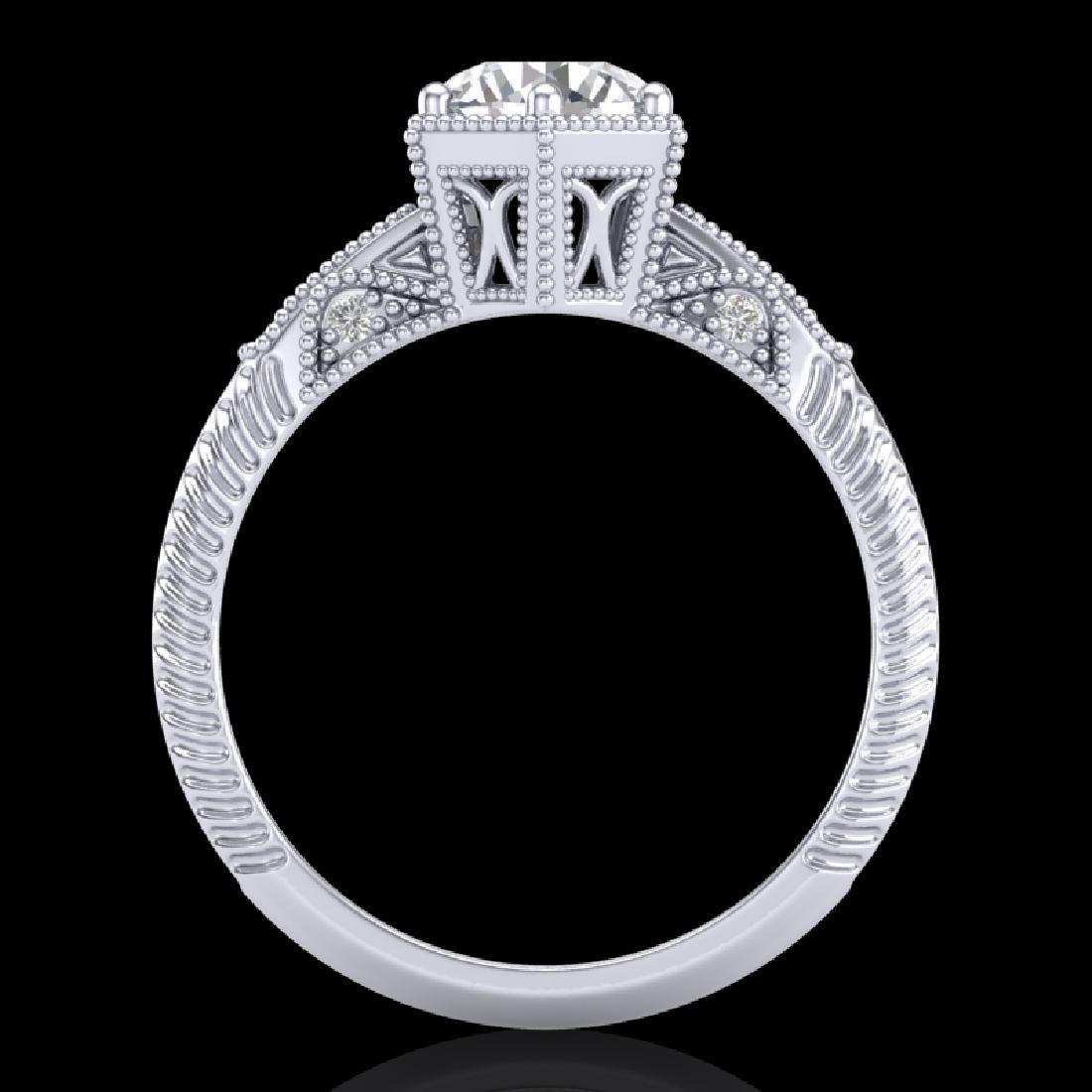 1.17 CTW VS/SI Diamond Solitaire Art Deco Ring 18K - 2