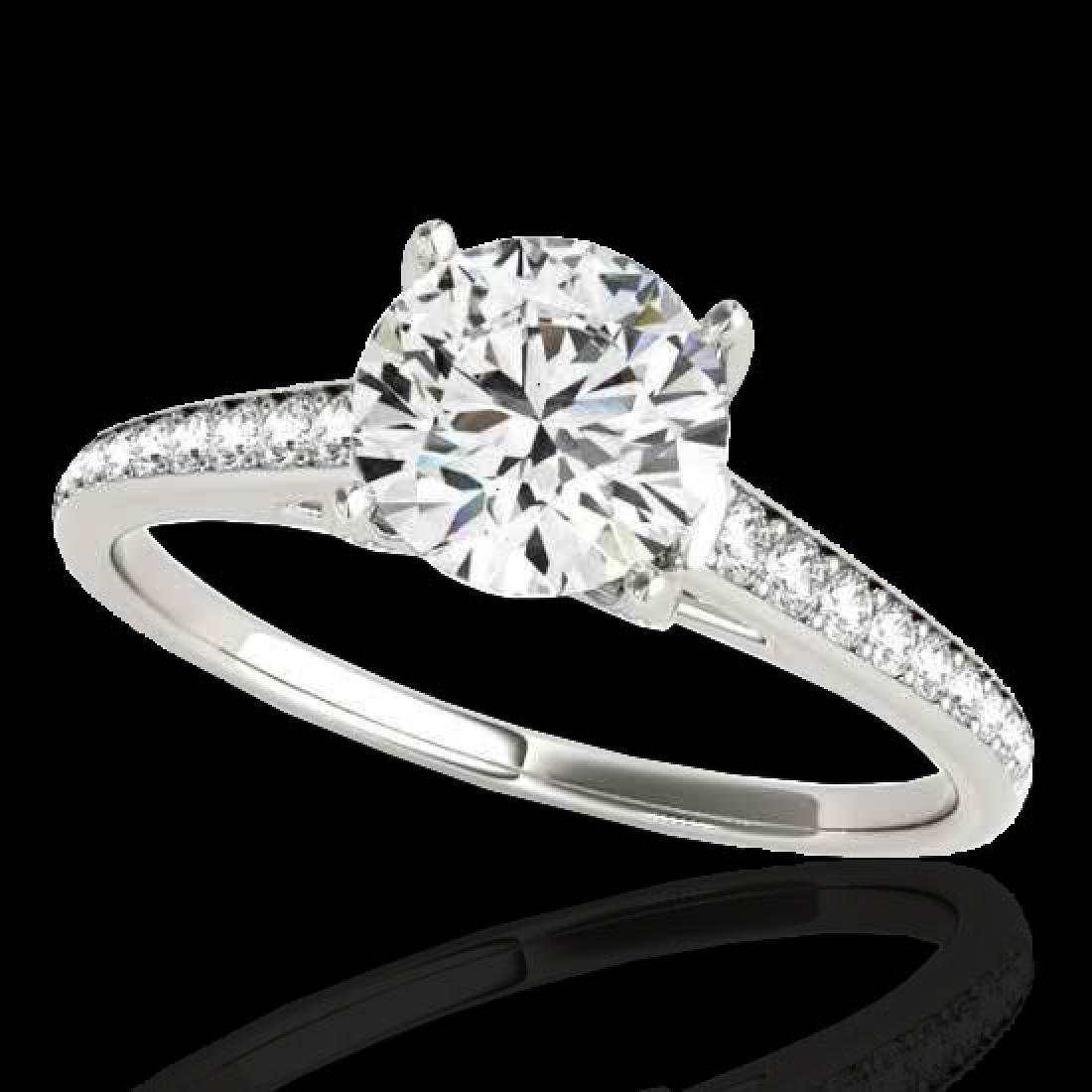 2 CTW H-SI/I Certified Diamond Solitaire Ring 10K White