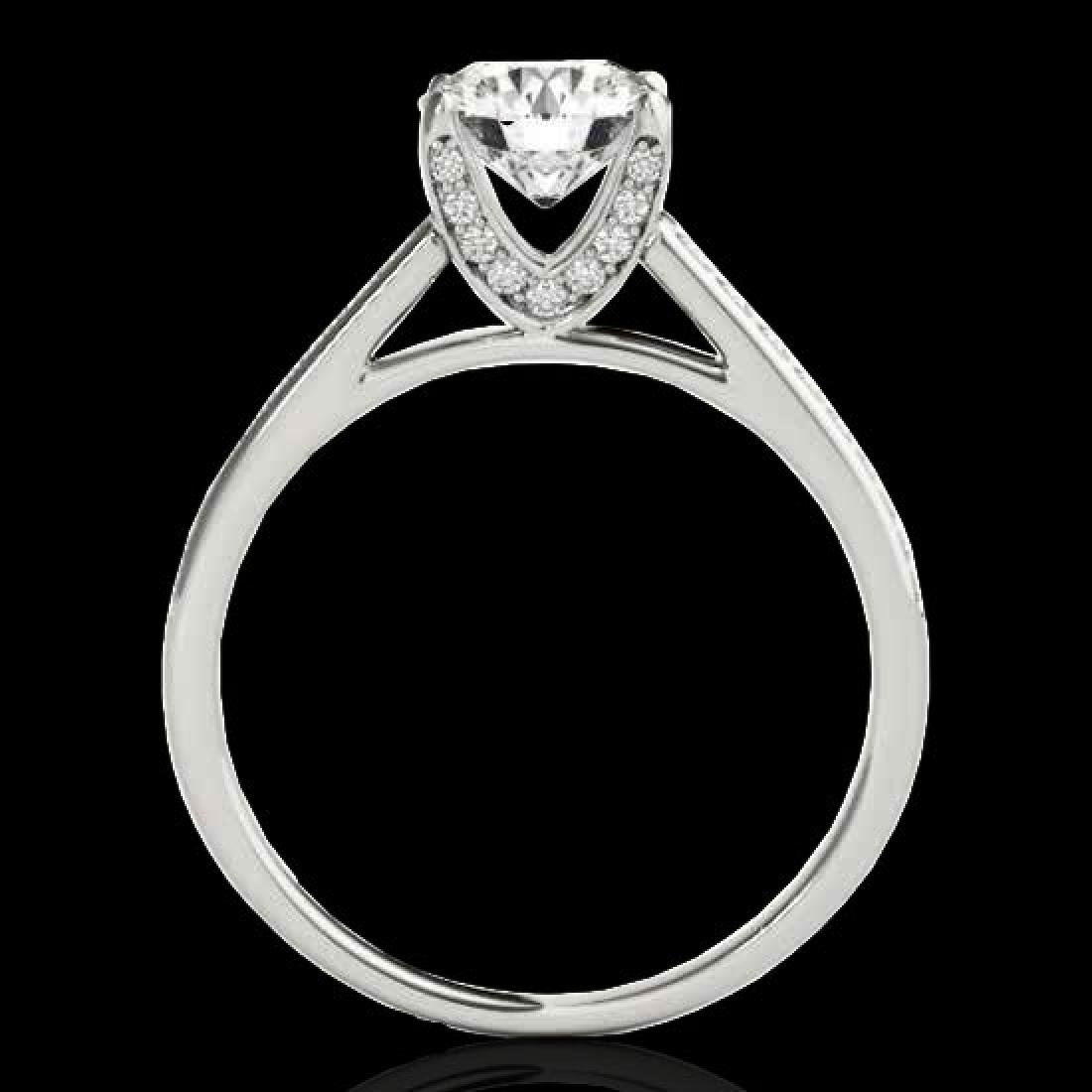 2 CTW H-SI/I Certified Diamond Solitaire Ring 10K White - 2