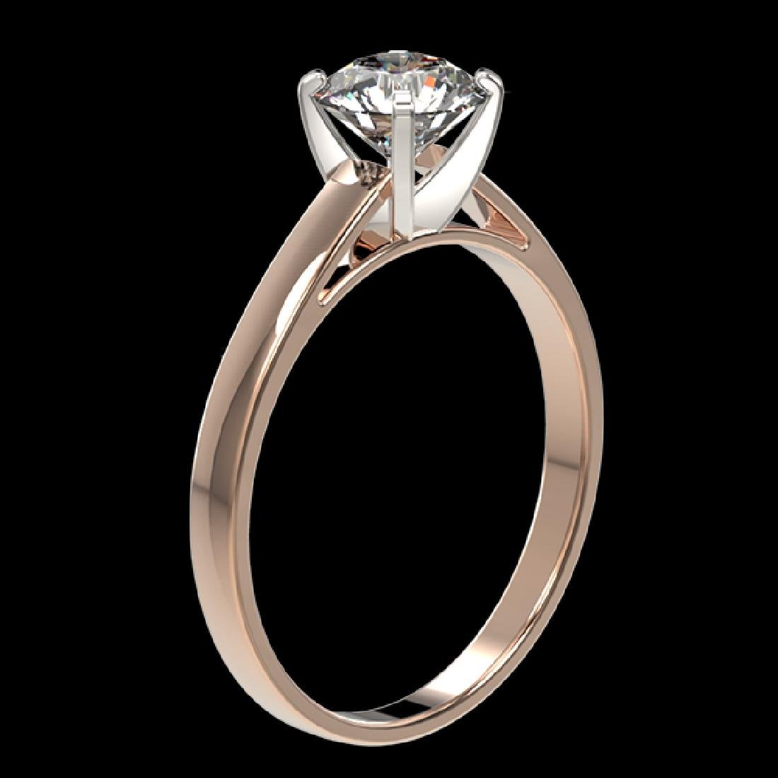 0.97 CTW Certified H-SI/I Quality Diamond Solitaire - 3