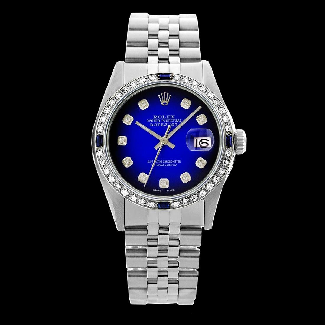 Rolex Men's Stainless Steel, QuickSet, Diam Dial & - 2