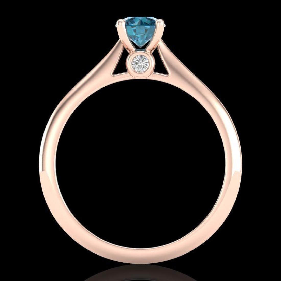 0.56 CTW Fancy Intense Blue Diamond Solitaire Art Deco - 3