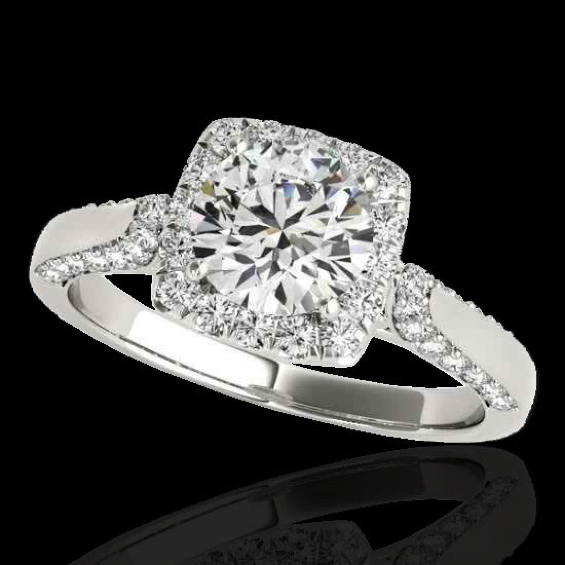 1.7 CTW H-SI/I Certified Diamond Solitaire Halo Ring