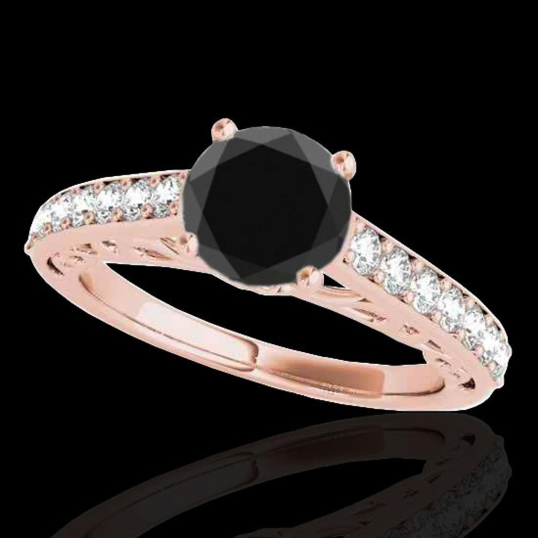 1.65 CTW Certified VS Black Diamond Solitaire Ring 10K