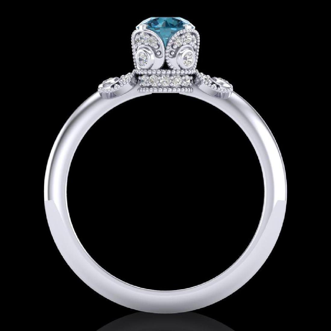 1 CTW Intense Blue Diamond Solitaire Engagement Art - 3